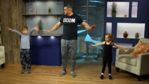 InPACT at Home with instructor Matthew Mair and two younger kids