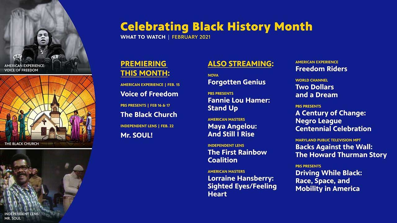 PBS Black History Month schedule