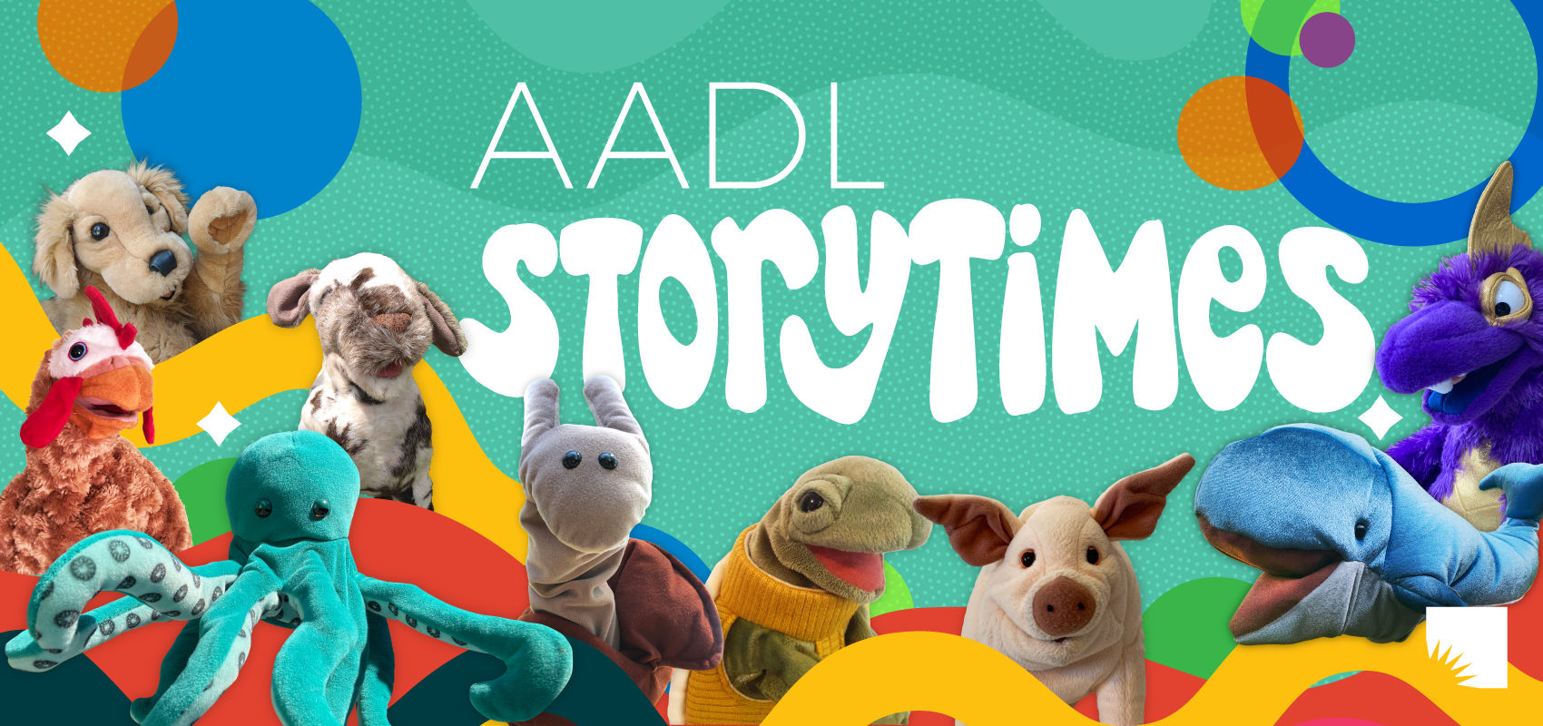 AADL storytimes poster
