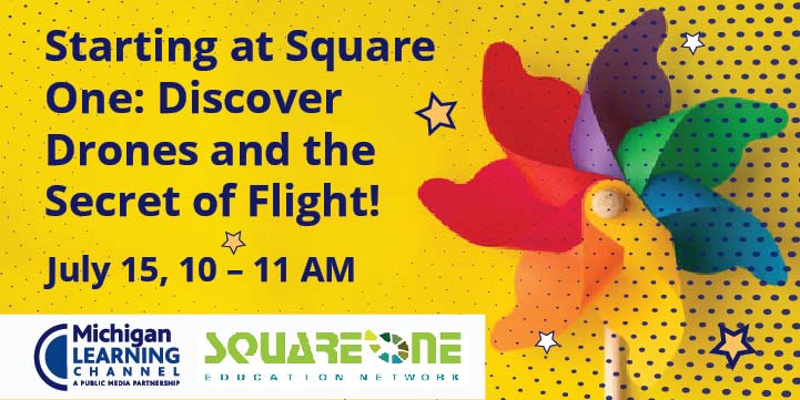 Square One Network Drones and flight event poster