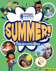 pre-k-2 michigan learning channel Activity book cover