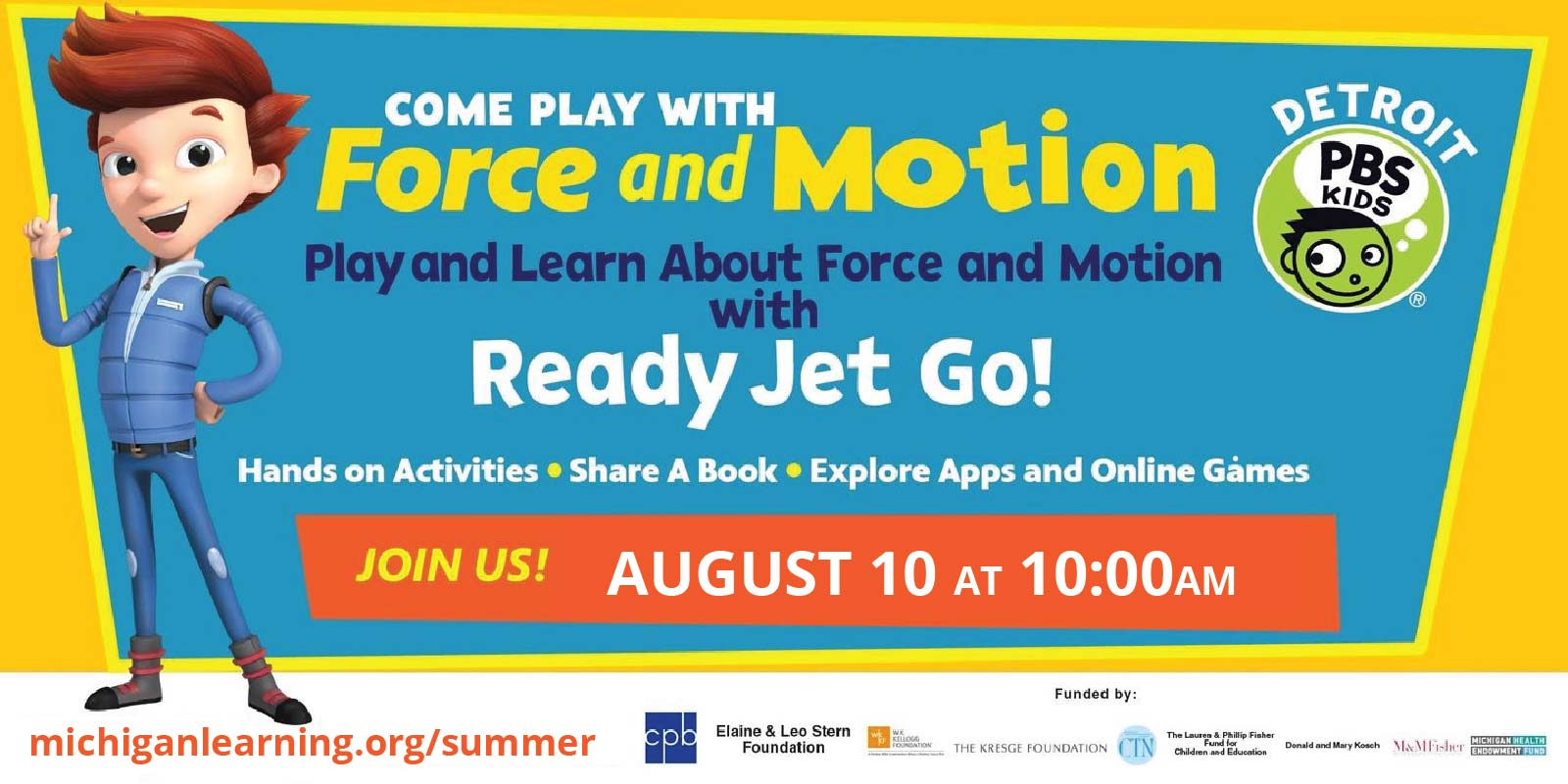Force and Motion with Ready Jet Go, Detroit PBS Kids, and Michigan Learning CHannel