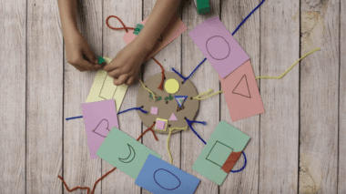 Family Math Backpack activity