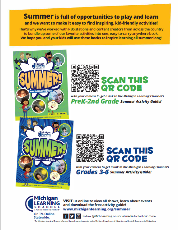 MLC Summer Activity Book QR Code