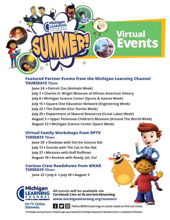MLC Summer virtual events flyer