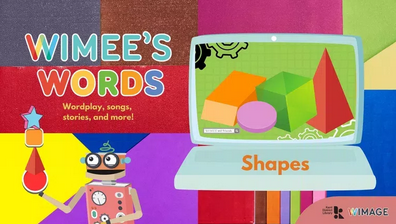 Wimee's Words shapes Episode graphic