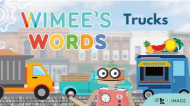 Wimee's Words trucks Episode graphic